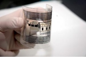 Professor Gyou-jin Cho and his team at Sunchon National University are working on a roll-to-roll printing process that could bring the cost down to 1 cent per tag and eventually replace barcode labels on products.